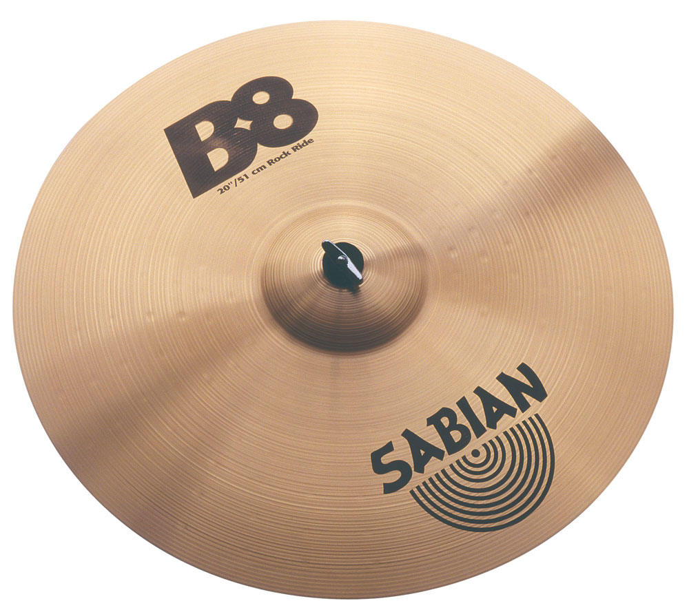 sabian 20 b8 rock ride cymbal 622537420146 ebay. Black Bedroom Furniture Sets. Home Design Ideas