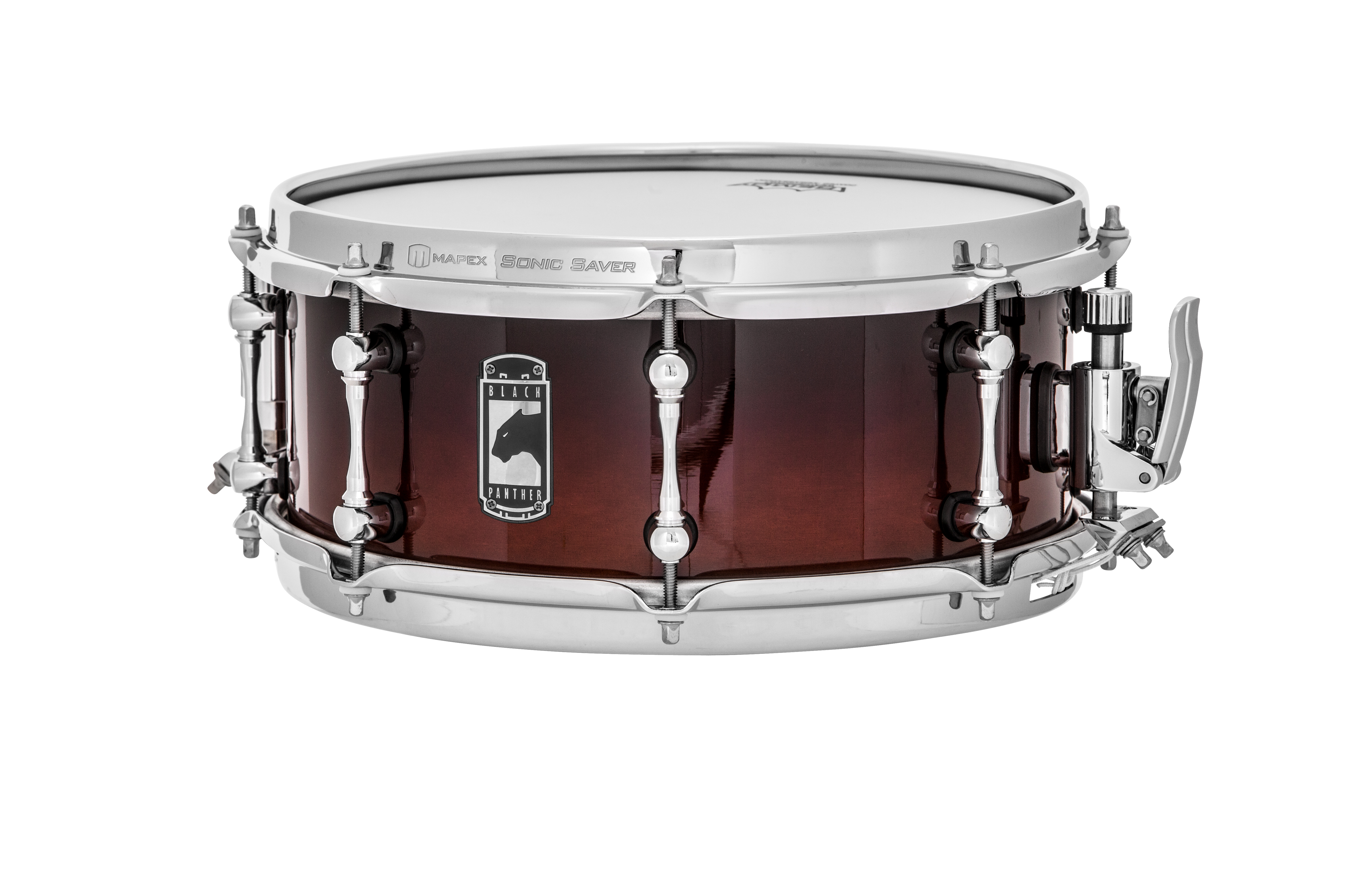mapex phantom black panther 12 034 x 5 034 snare drum transparent walnut fade ebay. Black Bedroom Furniture Sets. Home Design Ideas