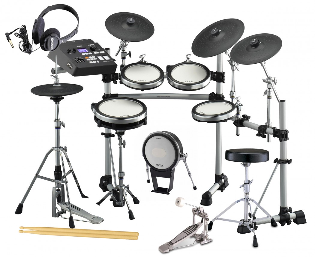 Yamaha dtx790k electronic drum set bundle for Electric drum set yamaha
