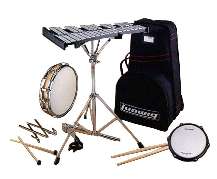 Ludwig le2482r percussion learning center combo kit with for Yamaha student bell kit with backpack and rolling cart