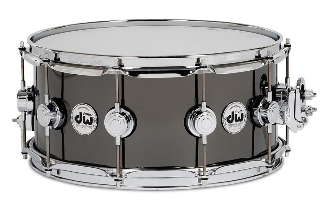DW Drum Workshop 6.5x14 Black Nickel Over Brass Snare Drum ...