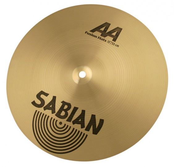 """SABIAN 13"""" AA Fusion Cymbal Hats Brilliant"""