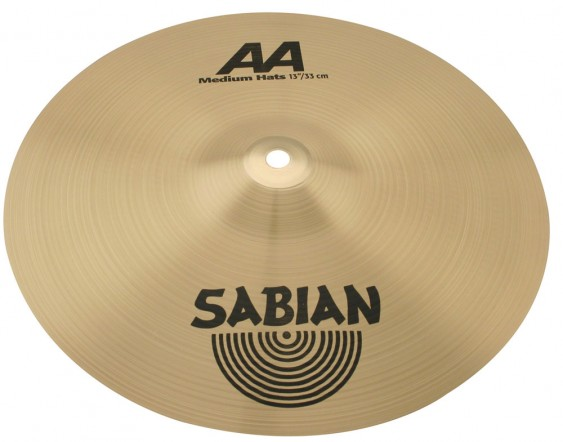 "SABIAN 13"" AA Medium Cymbal Hats Brilliant"