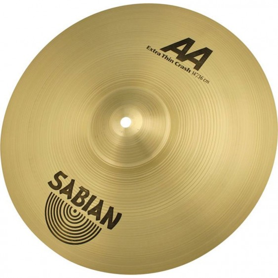 "SABIAN 14"" AA Extra Thin Crash Brilliant Cymbal"