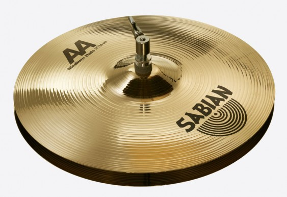 "SABIAN 14"" AA Medium Cymbal Hats Brilliant"