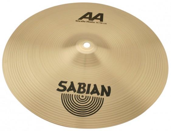 "SABIAN 14"" AA Sizzle Cymbal Hats Brilliant"