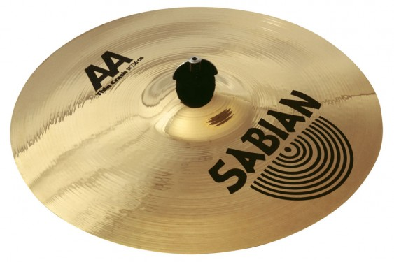 "SABIAN 15"" AA Thin Crash Brilliant Cymbal"