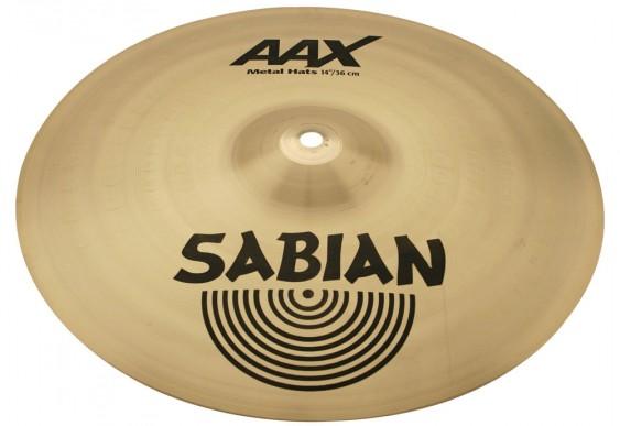 "Sabian 14"" AAX Metal Hats Brilliant Finish"