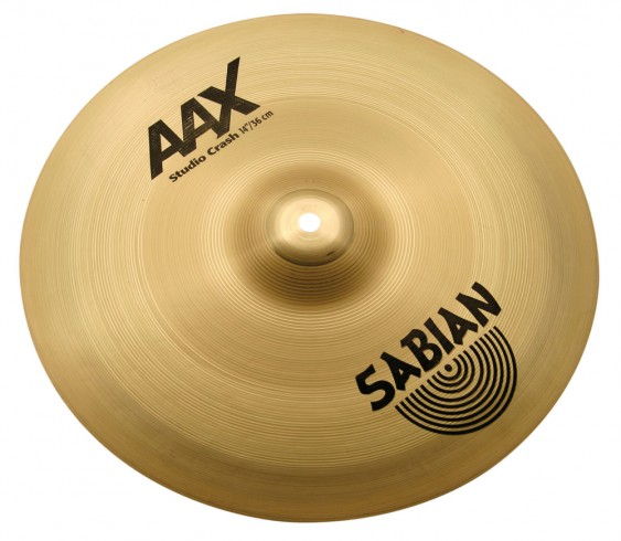 "SABIAN 14"" AAX Studio Crash Brilliant Cymbal"