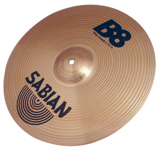 "SABIAN 15"" B8 Thin Crash Cymbal"