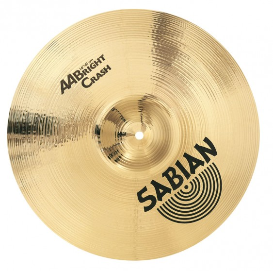"SABIAN 16"" AA Bright Crash Brilliant Cymbal"