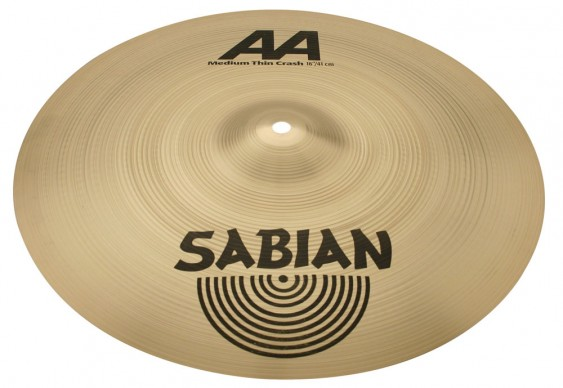 "SABIAN 16"" AA Medium Thin Crash Cymbal"