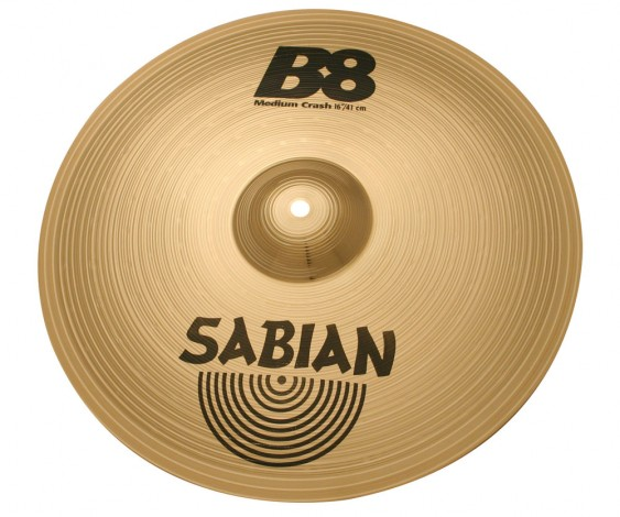 "SABIAN 16"" B8 Medium Crash Cymbal"