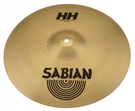 "SABIAN 16"" HH Medium Thin Crash Brilliant Cymbal"