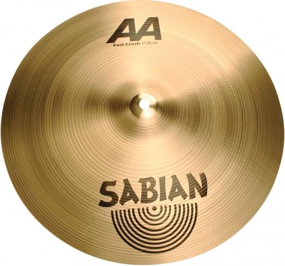 "SABIAN 17"" AA Fast Crash Brilliant Cymbal"