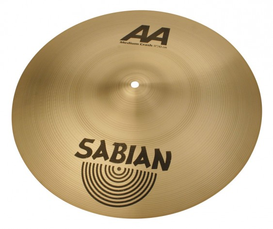 "SABIAN 17"" AA Medium Crash Brilliant Cymbal"