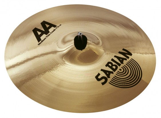 "SABIAN 17"" AA Medium Thin Crash Brilliant Cymbal"