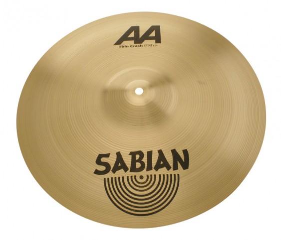 "SABIAN 17"" AA Thin Crash Brilliant Cymbal"