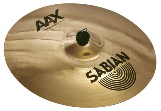 """SABIAN 17"""" AAX Stage Crash Brilliant Cymbal"""