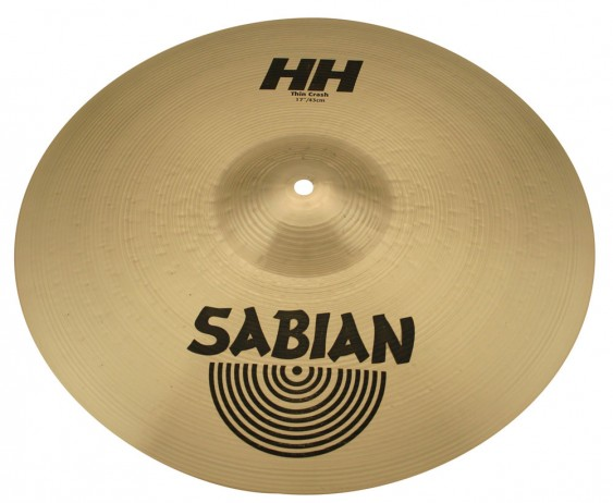 "SABIAN 17"" HH Thin Crash Brilliant Cymbal"
