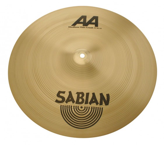 "SABIAN 19"" AA Medium Thin Crash Cymbal"