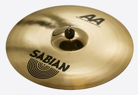 """SABIAN 18"""" AA Medium Thin Crash Brilliant Cymbal"""