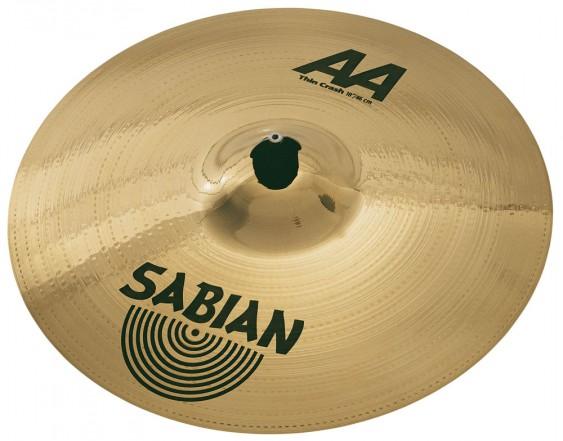 "SABIAN 18"" AA Thin Crash Brilliant Cymbal"