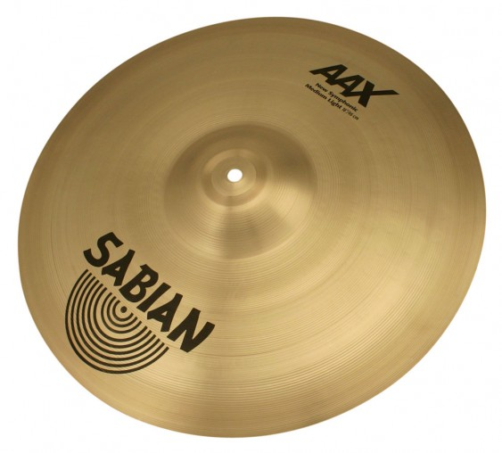 "SABIAN 18"" AAX New Symphonic Medium Light Brilliant Pair Cymbal"