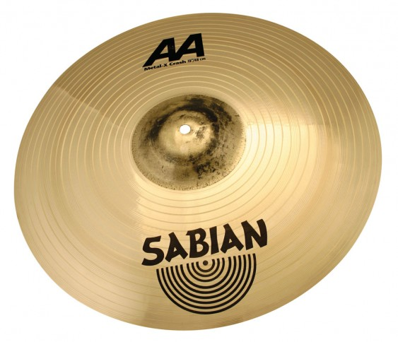 "SABIAN 19"" AA Metal-X Crash Brilliant Cymbal"