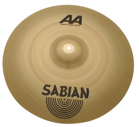 "Sabian 19"" AA Rock Crash Brilliant Finish"