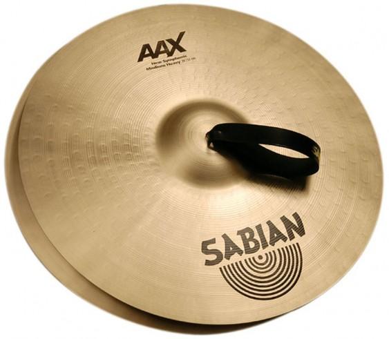 """SABIAN 19"""" AAX New Symphonic Medium Light Pair Cymbal"""