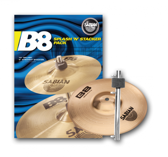 "SABIAN 10"" B8 Splash with 6"" stacker Cymbal"