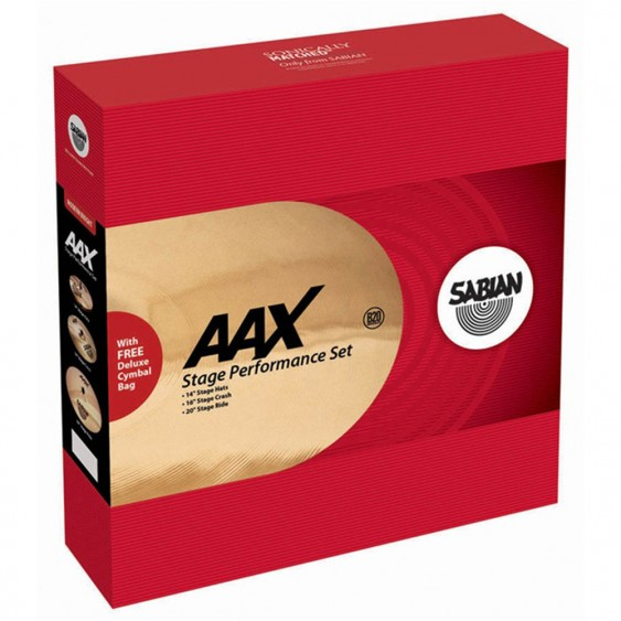 SABIAN AAX Stage Performance Cymbal Set Brilliant w/o Bag