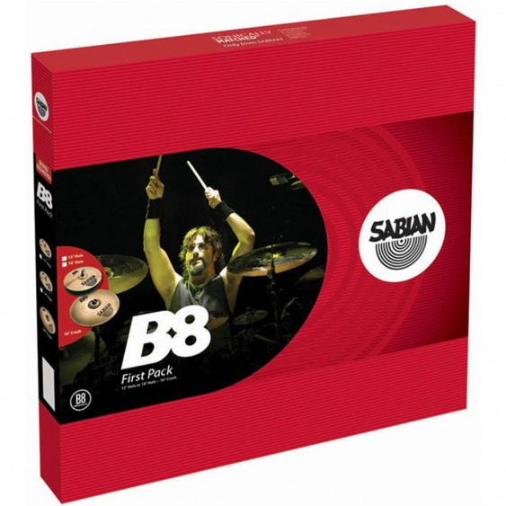 "SABIAN B8 First Cymbal Pack w/ 13"" Hats"