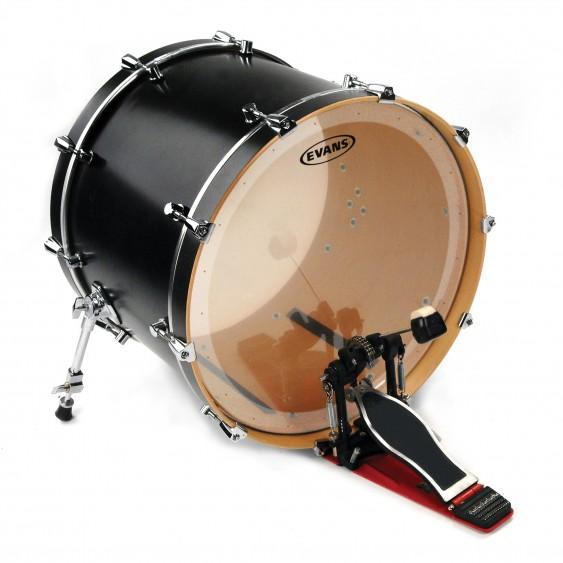 """Evans 20"""" Clear EQ2 Batter Bass Drumhead"""