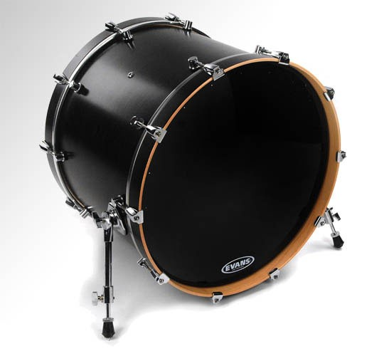 "Evans 18"" Black EQ1 Resonant Bass Drumhead"