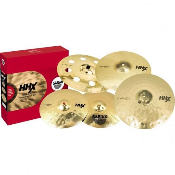 SABIAN HHX Evolution Performance Cymbal Set Brilliant w/o Bag