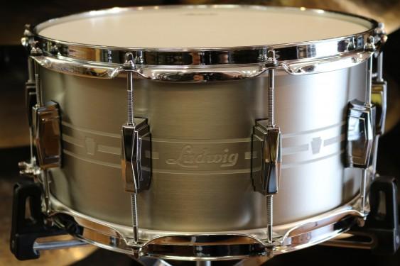 udwig 7x14 Heirloom Stainless Steel Snare Drum