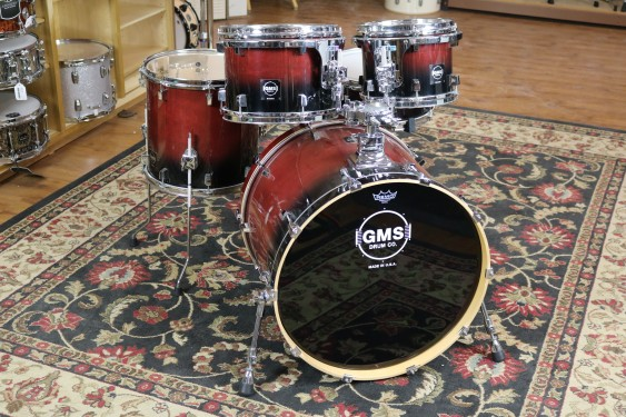 Used GMS 5pc, CL Series, 8x10, 9x12, 14x14, 18x22, 5.5x14 Snare, Very Clean
