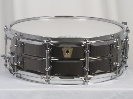 Ludwig LB416T 5X14 Brass Shell Black Beauty Snare Drum