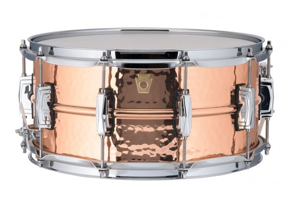 Ludwig 6.5x14 Hammered Copper Phonic Snare Drum with Imperial Lugs