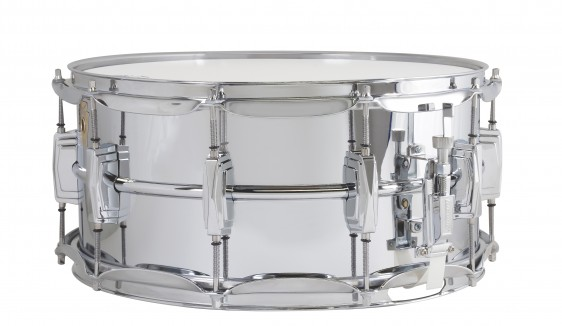 "Ludwig Chrome Over Brass Snare Drum 6.5x14"" Imperial Lugs"