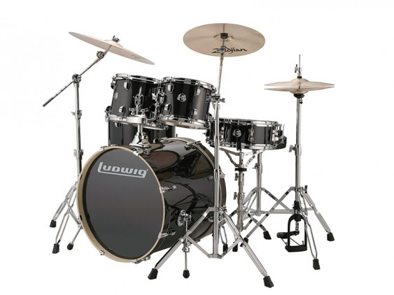 Ludwig Element Evolution Drum Set Black Sparkle