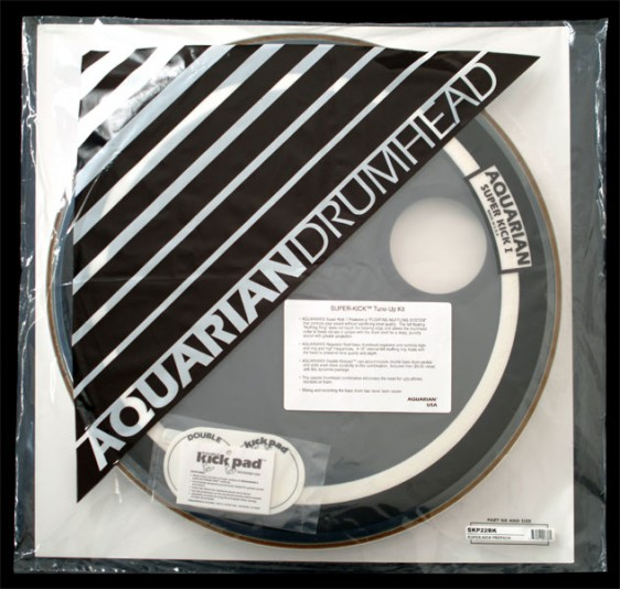 Aquarian 22'' Regulator/Super-Kick I Bass Drumhead Prepack