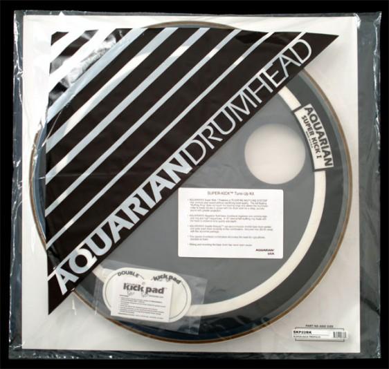 Aquarian 24'' Regulator/Super-Kick I Bass Drumhead Prepack