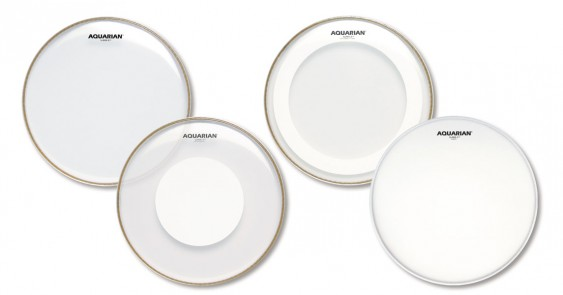 Aquarian 10'',12'',14'' Super-2 Clear w/Studio-X Ring Drumhead Prepack