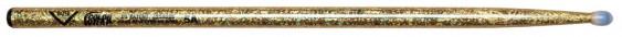 Vater Color Wrap 5A Gold Sparkle Nylon Tip Drumsticks
