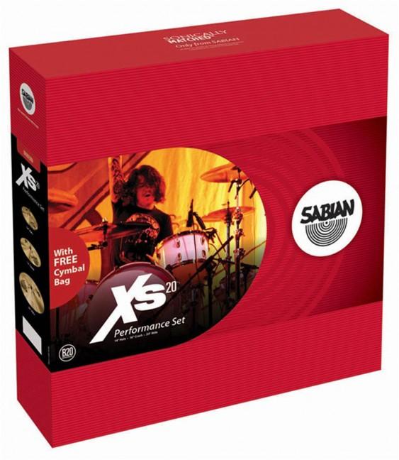 SABIAN Xs20 Performance Cymbal Set Brilliant w/o Bag