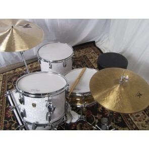Ludwig Classic Maple 22x14, 13x9, 16x16 Drum Set in White Marine Pearl