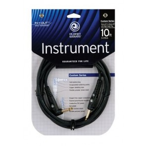 Planet Waves Custom Series Instrument Cable, 10 feet